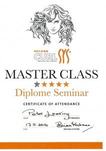 Curlsys Masterclass Diploma